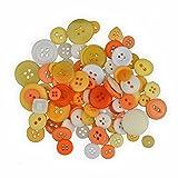 Creleo 790220 Knöpfe Mix zum Basteln, Vernähen und Verzieren, 30 g, gelb