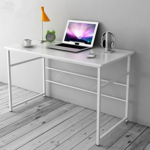 Cherry Tree Furniture Sleek Design Computer Desk Home Office Table W100 x D50 x H 72 cm (White)