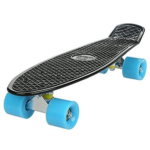 Ancheer Mini-Cruiser-Skateboard mit vielfarbigen Decken und Rollen,22 Zoll Kunststoff-Board im