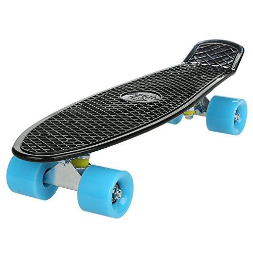 WeSkate Skateboard Komplettboard 22 Zoll mit ABEC-7 Mini Cruiser Skateboard für Kinder Jungendliche und Erwachsene, Belastung 100kg