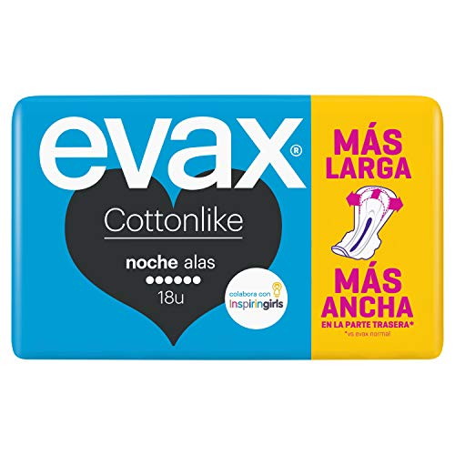 Evax Compresas Cotton Like Noche Alas - 18 Unidades