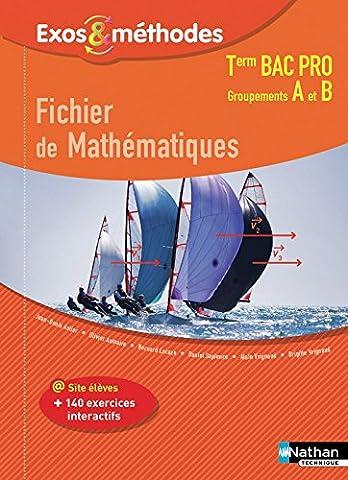 Fichier de Mathématiques Tle Bac Pro Groupements A et