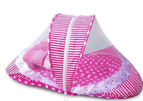 Best Contemporary Cotton Baby Bedding Set - Polka Print (Pink)