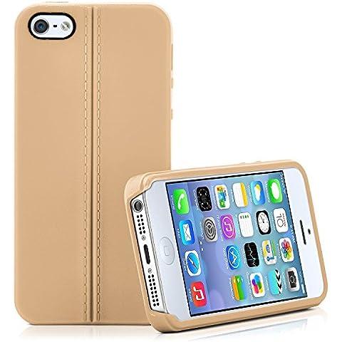 Caja del teléfono de alta calidad para iPhone 4 / 4S | Funda de silicona en el diseño elegante de cuero | Caso celda de protección OneFlow | Backcover en