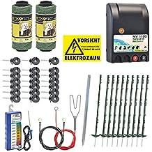 Kit Valla eléctrica para perros y gatos, set completo 230 V, verde, con pastor eléctrico