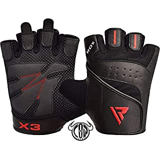 RDX Gym Weight Lifting Gloves Workout Fitness Crossfit Bodybuilding Powerlifting Breathable Wrist Support Strength Training Exercise