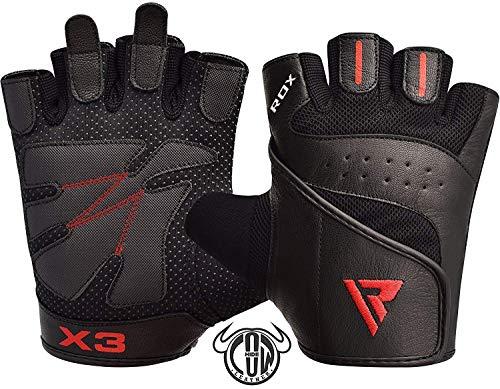 RDX Fitness Handschuhe Trainingshandschuhe Crossfit Handgelenkstütze Sporthandschuhe Gewichtheben Workout Bodybuilding Krafttraining klimmzug Gym Gloves