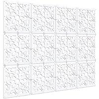 Kernorv Biombo de separación DIY Habitación Divisor Separador de ambientes Decorativos 12 Paneles Blanco (Naturaleza (Blanco)) - Muebles de Dormitorio precios