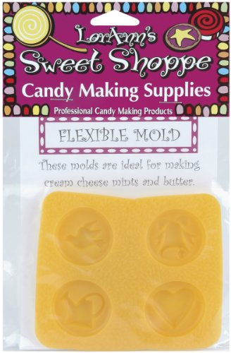 LorAnn Öle Sweet Shoppe Flexible Candy Mold-Double Glocken 4 Hohlraum (4 Designs), andere, Mehrfarbig
