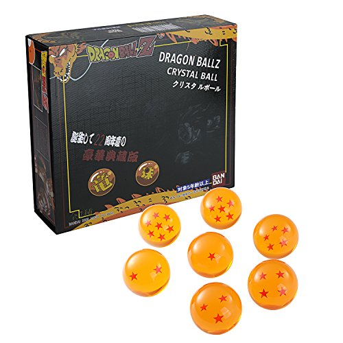 LIHAO DragonBall Z Dragon Ball Z 7 pcs Boule de Cristal Set Anime Cosplay Collection Coffret (Diamètre du ball: 4.3cm)