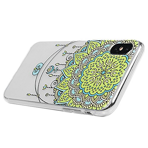 iPhone X Coque Mavis's Diary Étui Housse Coque de Protection TPU Silicone Gel Transparente Antichoc Bumper Original Phone Case Cover pour iPhone X Ultra Souple Flexible Léger + Chiffon Motif 3