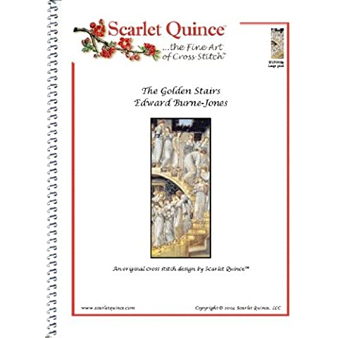 Scarlet Quince BUR003lg The Golden Stairs by Edward Burne-Jones Counted Cross Stitch Chart, Large Size Symbols by Scarlet Quince