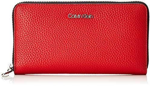 Calvin Klein Damen Sm Race Large Ziparound Geldbörse, Rot (Cherry) 12.5x20x3.5 cm -