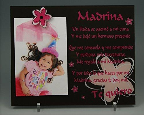 (ref.KdES-CMr) Marco de fotos para Madrina - Regalo para bautizos, Navidad, cumpleaños.