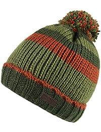 212d3ce0ba6519 Regatta Mens Davion Knitted PomPom Acrylic Warm Walking Bobble Hat
