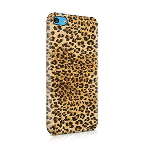 Tiger Fur Pattern Apple iPhone 5C Snap-On Hard Plastic Protective Shell Case Cover Custodia Sassy Leopard Fur