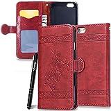 Slynmax Coque iPhone 6 Plus Wallet,Housse iPhone 6s Plus,[Fleurs Etui Portefeuille...