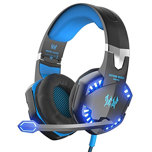 VersionTECH. Gaming Headset Over-Ear-Kopfh?rer Ohrh?rer Stereo Noise Isolation mit Mikrofon in-Line (Aufnahme Telefonieren)