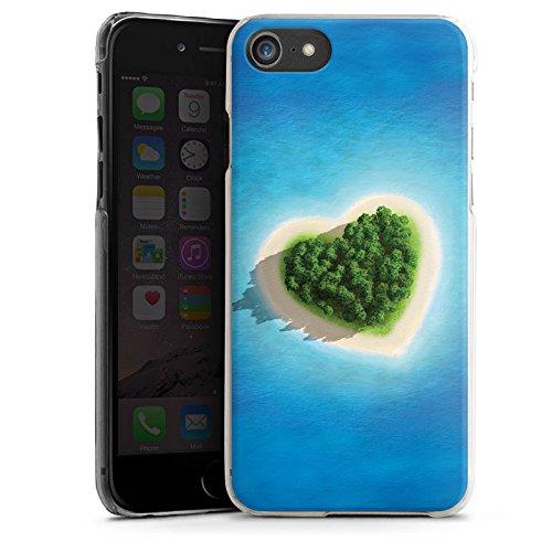 Apple iPhone X Silikon Hülle Case Schutzhülle Love Insel Muster Herz Hard Case transparent