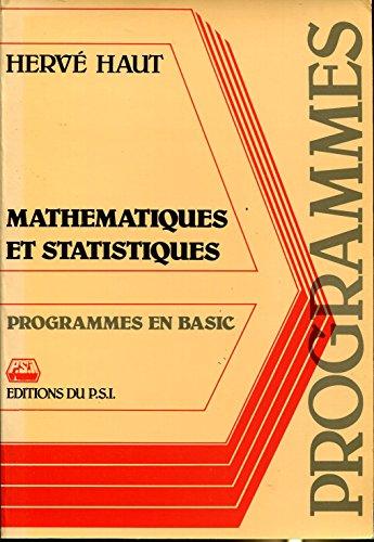 Mathématiques et statistiques - Programmes en Basic