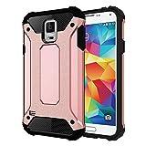 Schützen Sie Ihr Mobiltelefon Für Samsung Galaxy S5 / G900 Tough Armor TPU + PC Kombi-Gehäuse für Samsung Handy ( Farbe : Rotgold )
