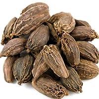 obbi fresh Cardamom Black Whole Organic (Badi Elaichi, Sabut Elaichi) Grade- Big Size 100 Gm