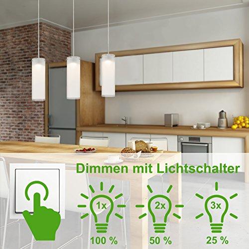 Briloner leuchten dimmerabile led lampada a sospensione, plafoniera soggiorno, 3x 400lm, metallo, integrato, 5w, cromato, 120x 70x 120cm