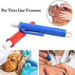 Instrumentos Antigarrapatas Tick Remoción Garrapatas Pinzas Herramientas de Aseo para Perros, Gatos, Caballos, Conejos Eliminar plagas Pinzas para pulgas
