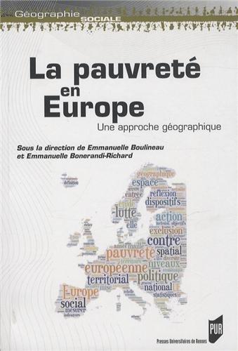 La pauvreté en Europe : Une approche géographique par Emmanuelle Boulineau