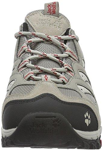 Jack Wolfskin Mtn Storm Texapore Low W, Chaussures de Randonnée Basses Femme Beige (Racing Red 2051)