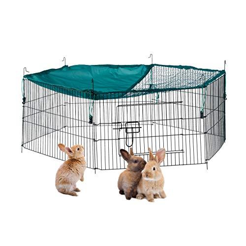 Relaxdays – Cercado con Cubierta de Red, cercado para Conejos y roedores,...