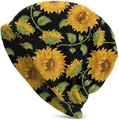 Miedhki Schöne Sunflowe Mütze für Männer/Frauen dünne Skull Cap Oversize Strickmütze
