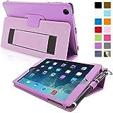 iPad Mini Case, Snugg™ Purple Leather Smart Case Cover with Flip Stand [Lifetime Guarantee] Auto Wake & Sleep For Apple iPad Mini 1 & 2 Retina