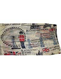 London Theme Scarf in Beige