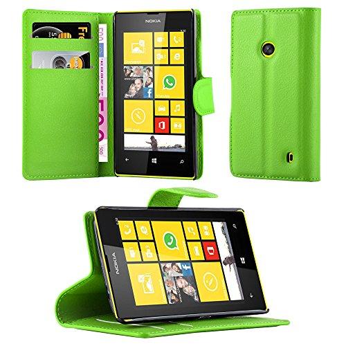 Cadorabo - Custodia Book Style Design Portafoglio per Nokia Lumia 520 con Supporto Funzione e (520 Menta)