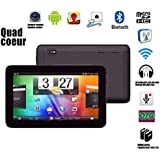 """Tablet Tactile 10.1""""screen HD Android 4.4.2 Quad-core RAM 512MBo ROM 8GBo (Black)"""