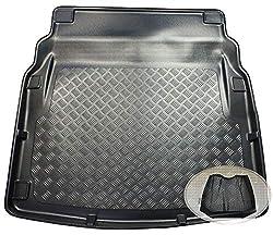 ZentimeX Z3322604 Geriffelte Kofferraumwanne fahrzeugspezifisch + Klett-Organizer (Laderaumwanne, Kofferraummatte)