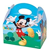 20 x MICKEY MOUSE CLUBHOUSE PARTY MEAL BOX ~ Childrens Kids Carry Food Birthday Party Loot Bag