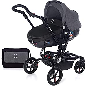 Jané 5480T34-Paseo Chairs Cosatto Includes: Chassis,Seat unit, Hold Car seat,Isofix base,Car seat adaptors,Raincover, Apron and 4 Year guarantee(UK and Ireland only) Suitable from birth up to 15kg. One unit transforms from newborn pram mode into pushchair mode. Space saving. No need to buy separate carrycot.. Colour packs available so you can change the look to suit your mood, family and adventures. Includes hood, pram apron and padded pushchair apron. 10