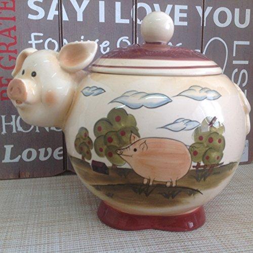 Alice's Collection Keramik Cookies Jar-pig- 26x 20x 23cm Pig Cookie Jar