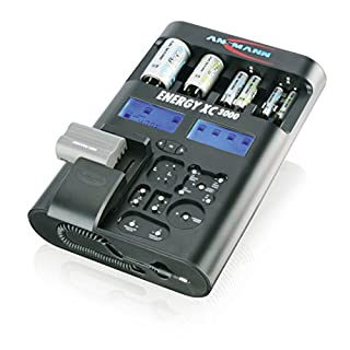 ANSMANN Energy XC3000 Akku Ladegerät / Pflege- & Teststation  Kapazitätstester mit Refresh Funktion / Ideal für NiMH Micro AAA  Mignon AA  Baby C  Mono D & 9V E-Blöcke sowie Li-Ion & Li-Po Akkupacks
