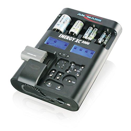 Ansmann 5207452 - Energy XC3000 cargador para 1-8 Micro AAA o Mignon AA para 1-4 Baby C o Mono D y para 1-2 E-Block 9V o...