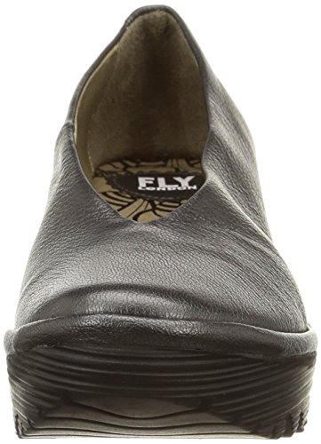 FLY London Yaz, Ballerines femme Gris (Borgogna Graphite)