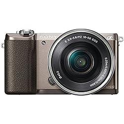 Sony ILCE-5100LT Appareil Photo Numérique Hybride, Capteur APS-C , 24 Mpix, Autofocus Rapide - Brun + Objectif 16-50 mm