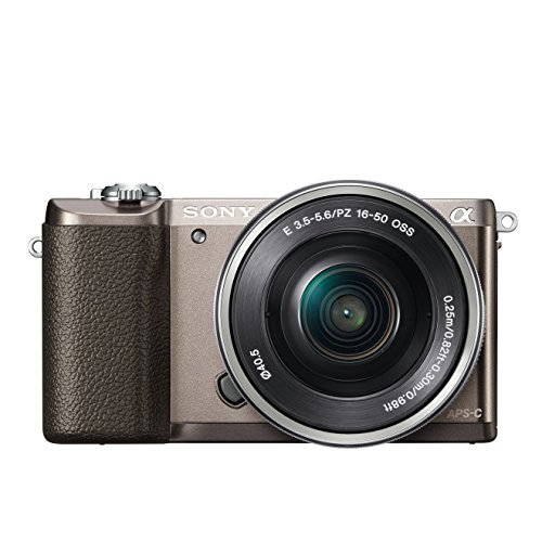Sony Alpha 5100 Systemkamera mit ultraschnellem Hybrid-AF (180° drehbares 7,62 cm (3 Zoll) LC-Display, 24,3 Megapixel, Exmor APS-C Sensor, Full HD Video) inkl. SEL-P1650 braun