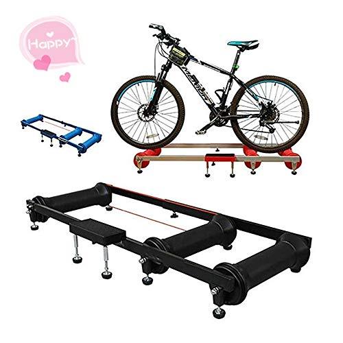 SunxwenGB Radfahren Fitness-Studio Fahrrad-Roller Reiten Plattform Innen Übung Plattform Rennrad Roller Training Table (Farbe : Blau, Größe : Einheitsgröße)