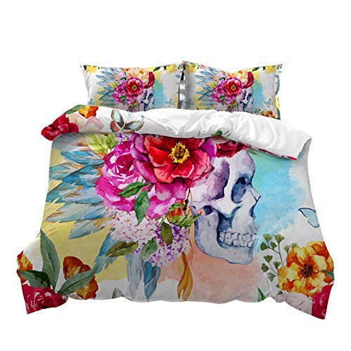 MIAOLIDP Aquarell Flower Taro American Size Dreiteiliges Set (Color : B, Size : Queen) - Queen-size-set Schrank