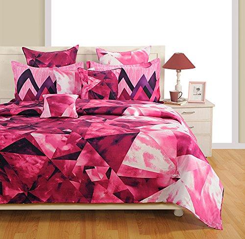 Yuga 8 in Beutel Bett Stücke rosa Baumwollmaterial Tröster Bettwäsche-Set Set -