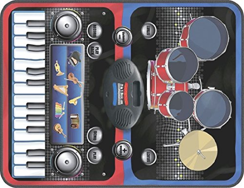 Good Quality Zippy MAT - 2 in 1 Musical Jam Playmat, Multi Color Kids' Pianos & Keyboards at amazon
