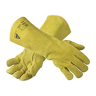 Ansell 43-216 Activarmr Workguard Welders Gauntlets 16'' Leather Glove, Size 10 - Xlarge